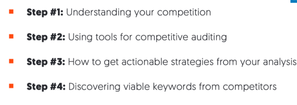 The four steps for auditing your competition.