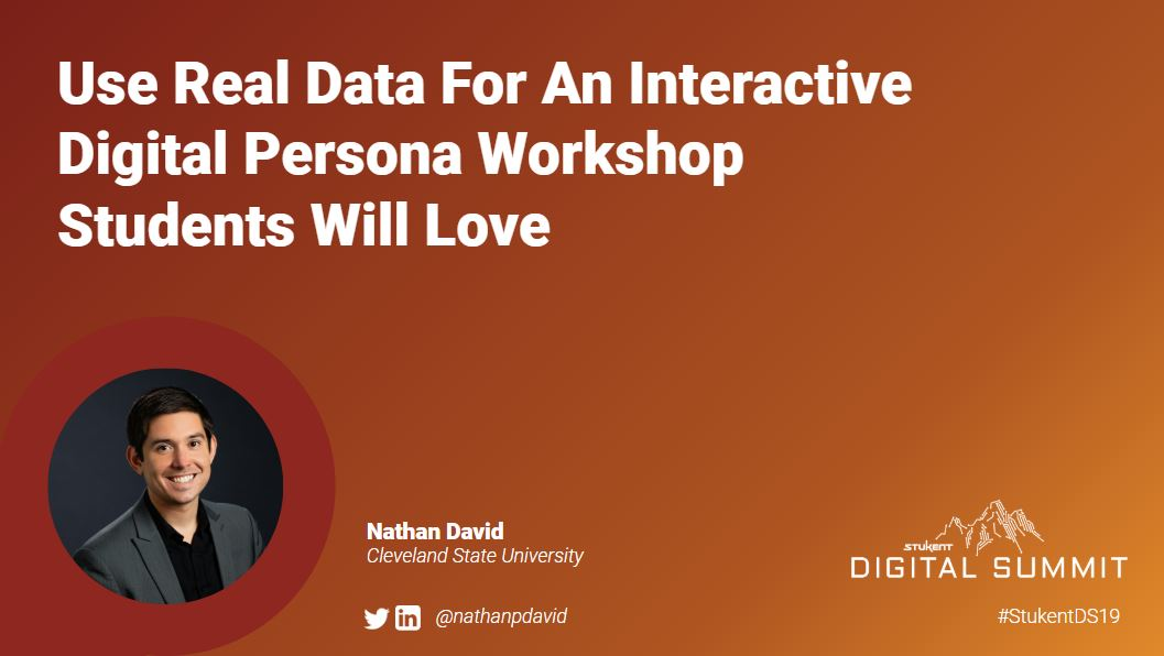 Use Real Data For an Interactive Digital Persona Workshop Students Will Love