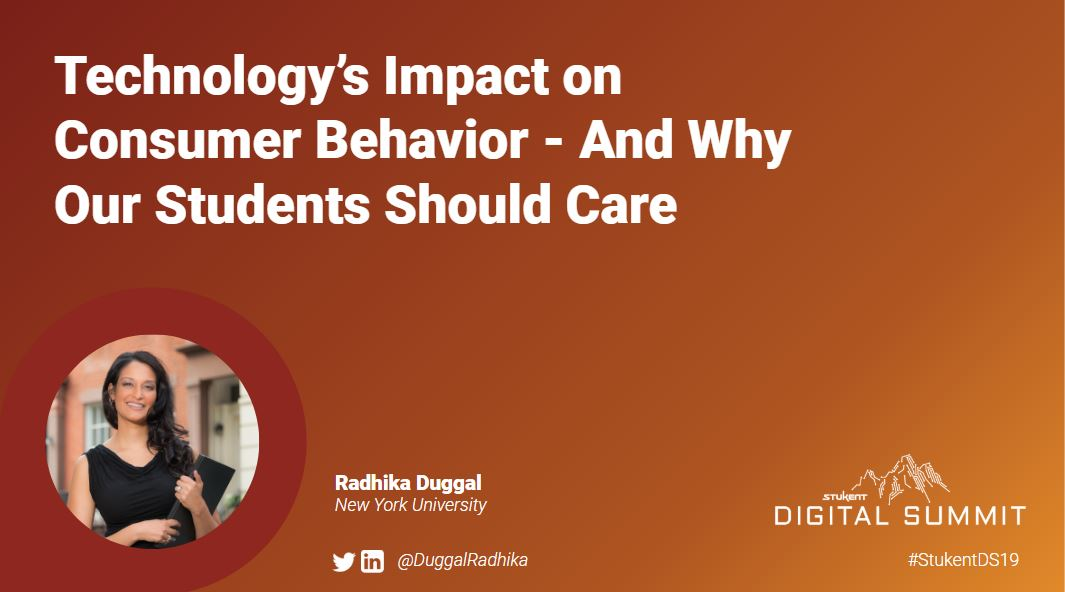 Technology's Impact on Consumer Behavior and Why Your Students Should Care