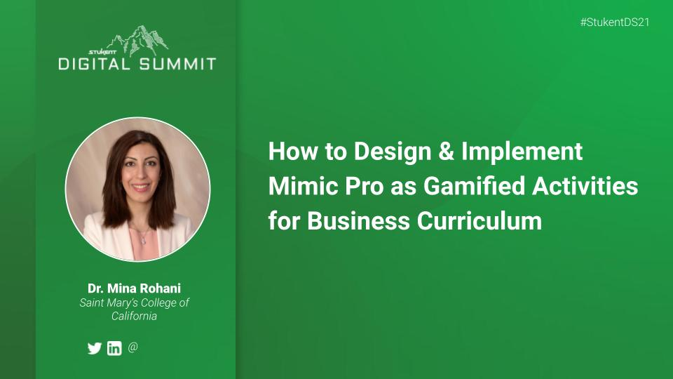 How to Design & Implement Mimic Pro as Gamified Activities for Business Curriculum